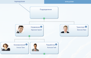 Corporate SP-Portal organization chart