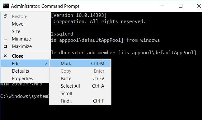 Exit SQL Server console