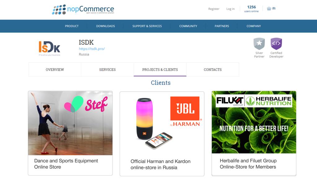 ISDK nopCommerce for B2B and B2C customers