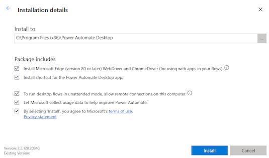 PA Desktop installation