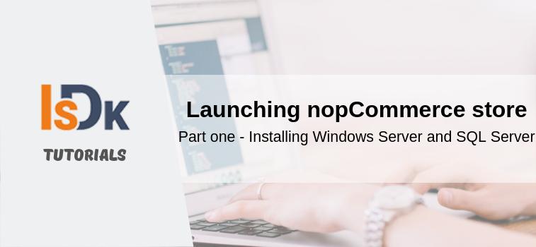 Launching nopCommerce store_part_1