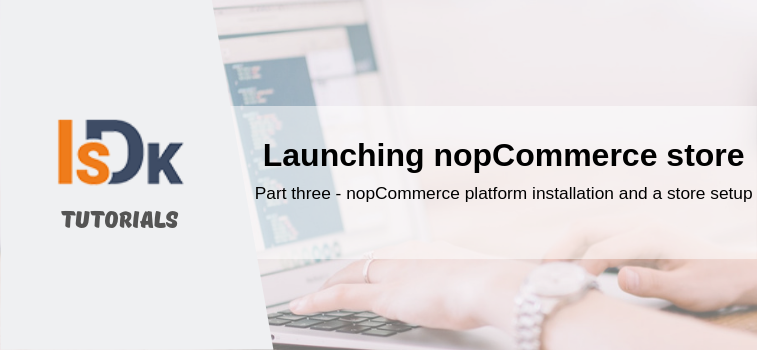 nopCommerce platform installation and a store setup