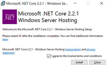 Microsoft .NET Core License terms