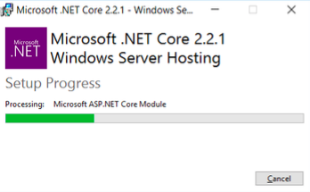 Microsoft .NET Setup Progress