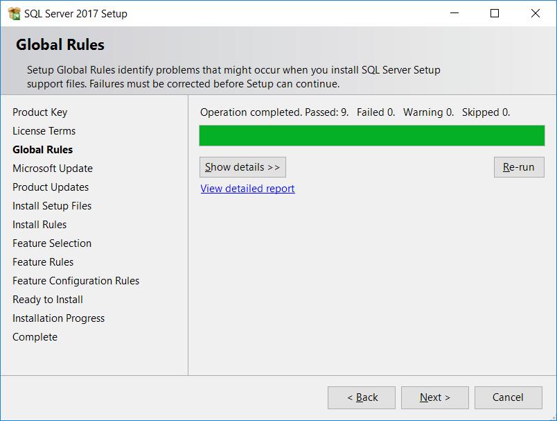 SQL Server Global rules
