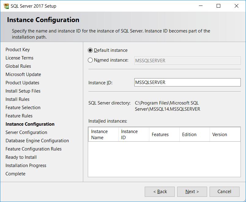 SQL Server Instance Configuration