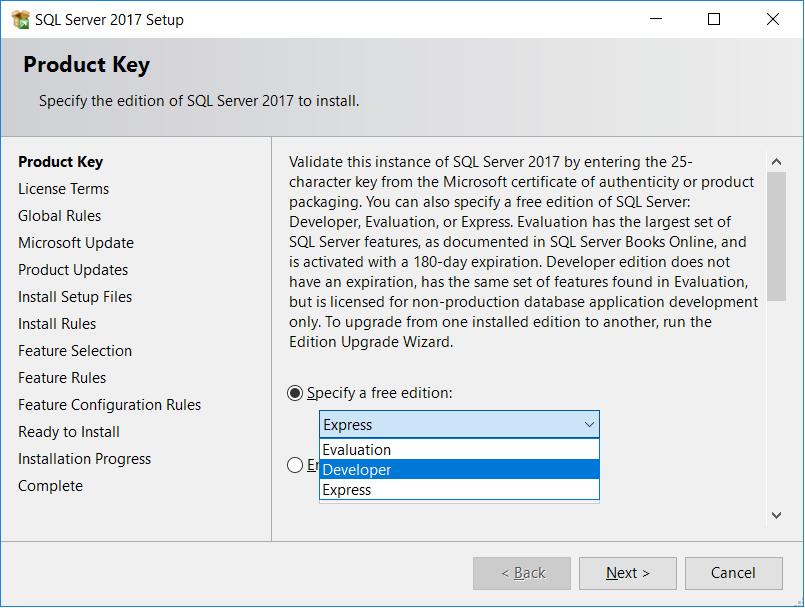 SQL Server Product Key