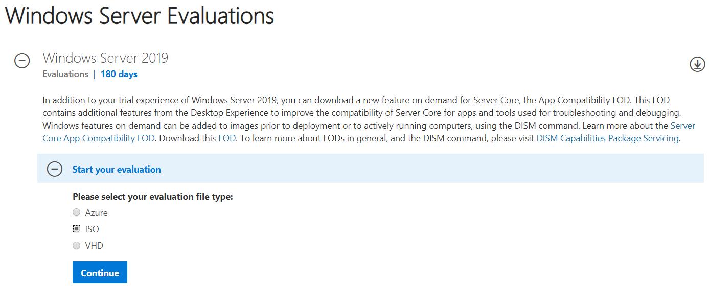 Windows Server Evaluations