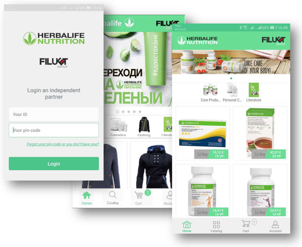 mobile-application for large ecommerce