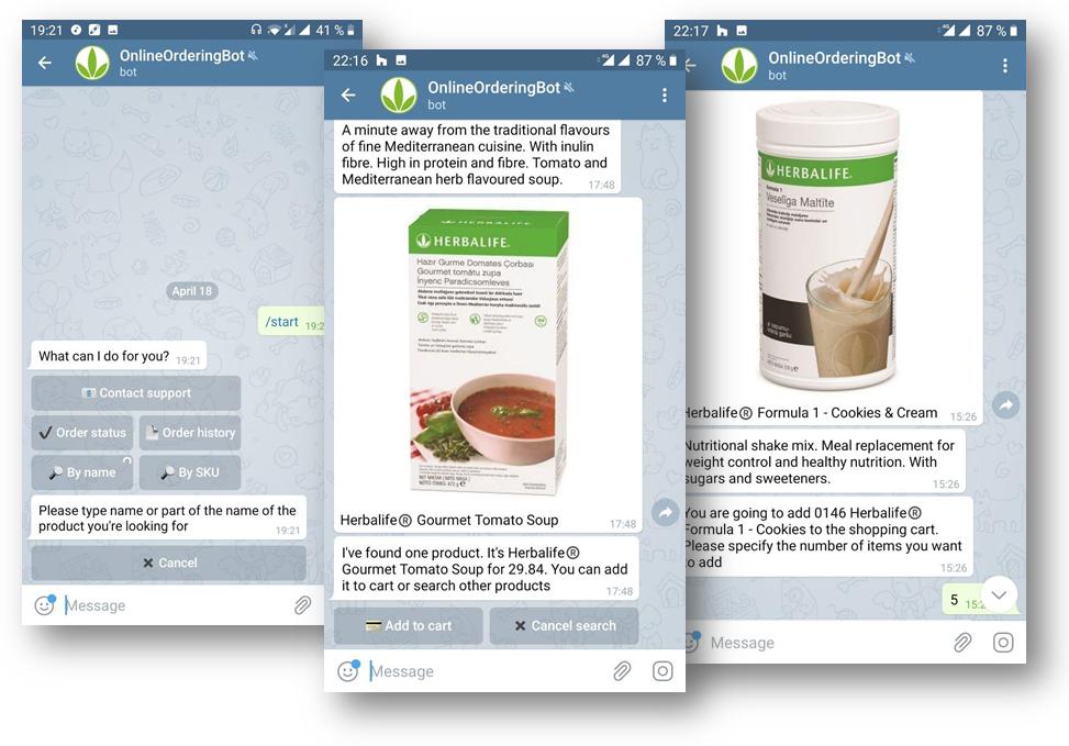 telegram-nlp-chatbot for online ordering
